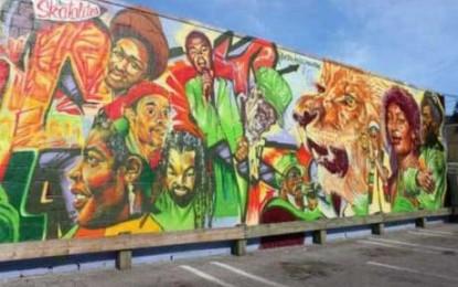 Canada recognizes reggae music with huge mural