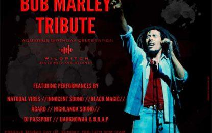 3rd Annual Bob Marley Birthday Tribute & Aquarius' Birthday Celebration set for February 12th in Atlanta