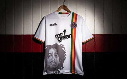 Reggae legend Bob Marley makes an appearance in new Bohemians FC kit