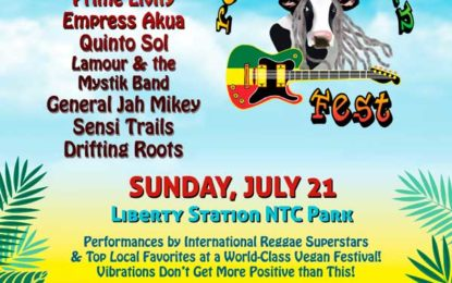 San Diego Reggae Vegan Fest at Liberty Station on Sunday, July 21 Announces Reggae Superstars Third World, The Movement, Yami Bolo, Iakopo, and Many More, Plus Vegan Food and Drink, Speakers on Health and Environment