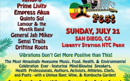 Sunday, July 21, 2019 San Diego Reggae Vegan Fest  Third World, The Movement, Yami Bolo,  and Iakopo, more!