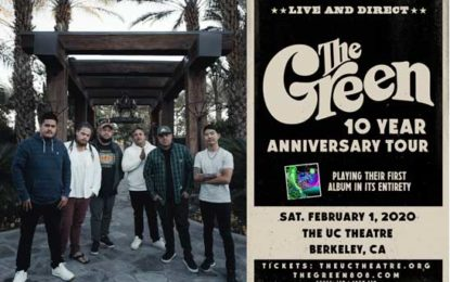 The Ambassadors of 'Aloha', The Green, Plus Ka'ikena Scanlan Will Be Performing at The UC Theatre in Berkeley on Saturday, February 1  For All Ages Reggae Show