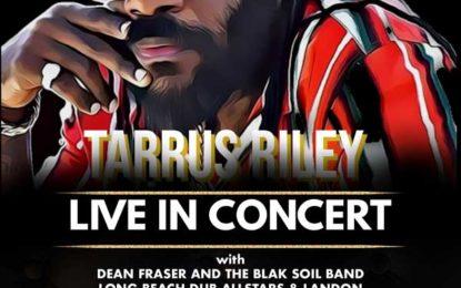 The UC Theatre in Berkeley Presents Reggae Icon Tarrus Riley with Dean Fraser and The Blak Soil Band, Long Beach Dub Allstars, and Landon McNamara on Friday, February 7