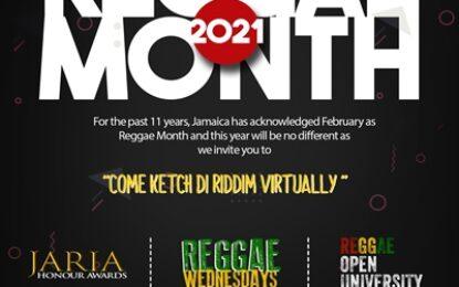 Jamaica Reggae Industry Association (JaRIA) celebrates Reggae Month 2021 with Signature Events