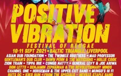 Positive Vibration Festival, September 10-11, 2021. Liverpool, England